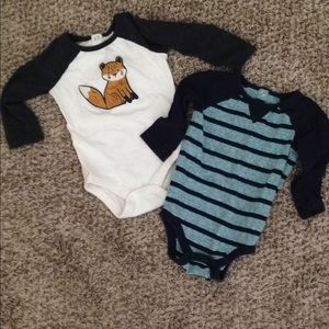 Two long sleeve body suits
